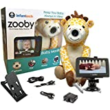 """Infanttech Award Winning Zooby 4.3"""" Video and Audio Baby Monitor (Giraffe) - The Baby Monitor for Home, Cars and On the Go"""