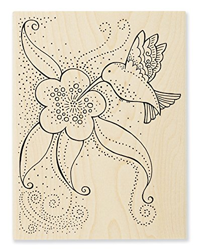 Stampendous LBR003 Hummingbird Blossom Laurel Burch Stamp