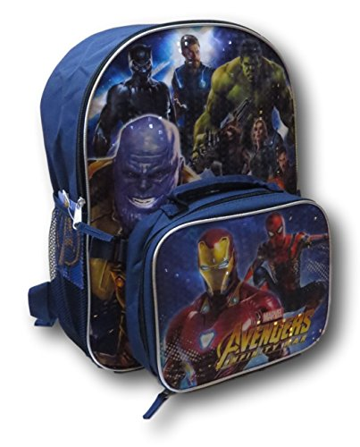 Marvel Avengers Infinity War Backpack W/ Detachable Lunch Box