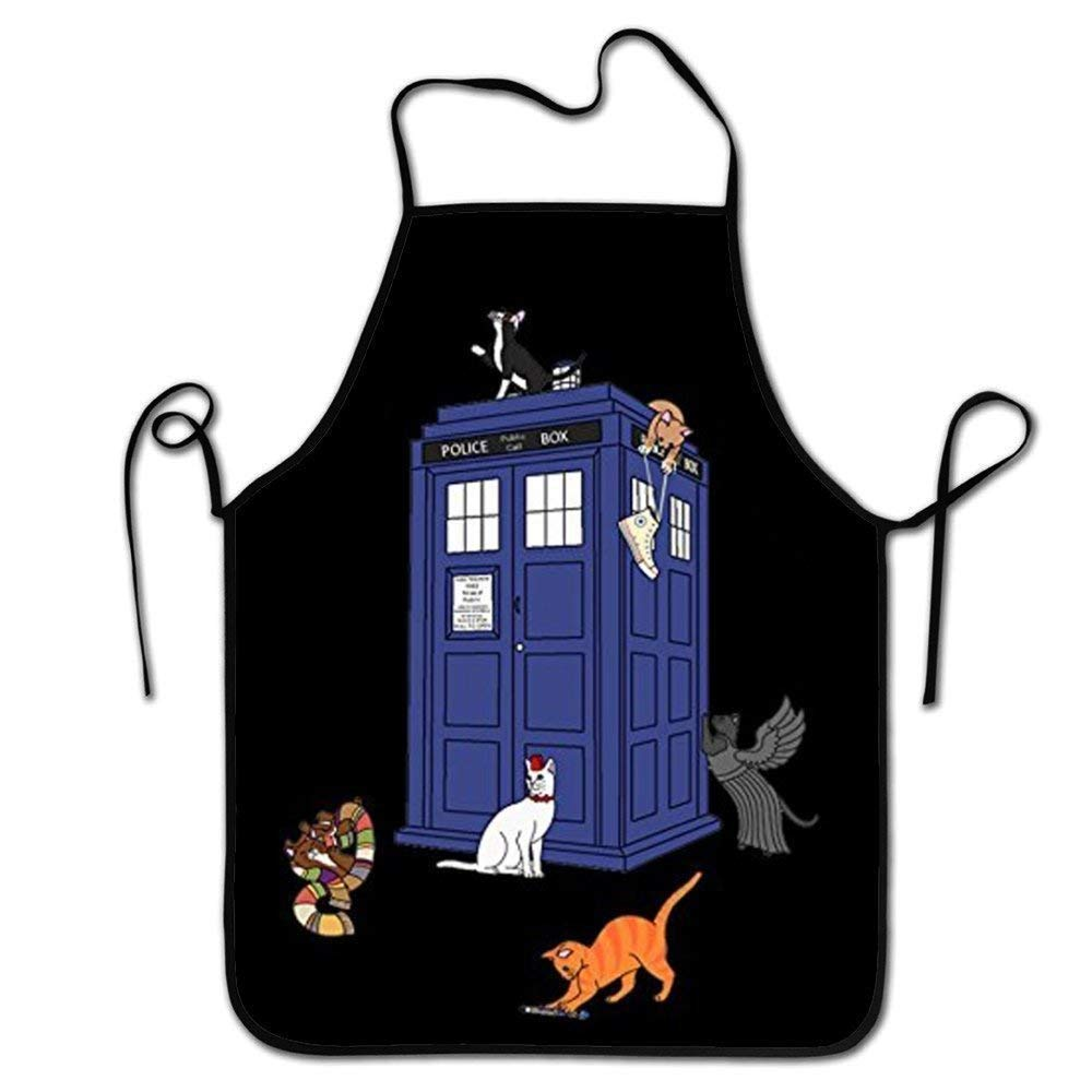 ruichangshichengjie Doctor Who Cats Adult Great Gift Cooking BBQ Apron