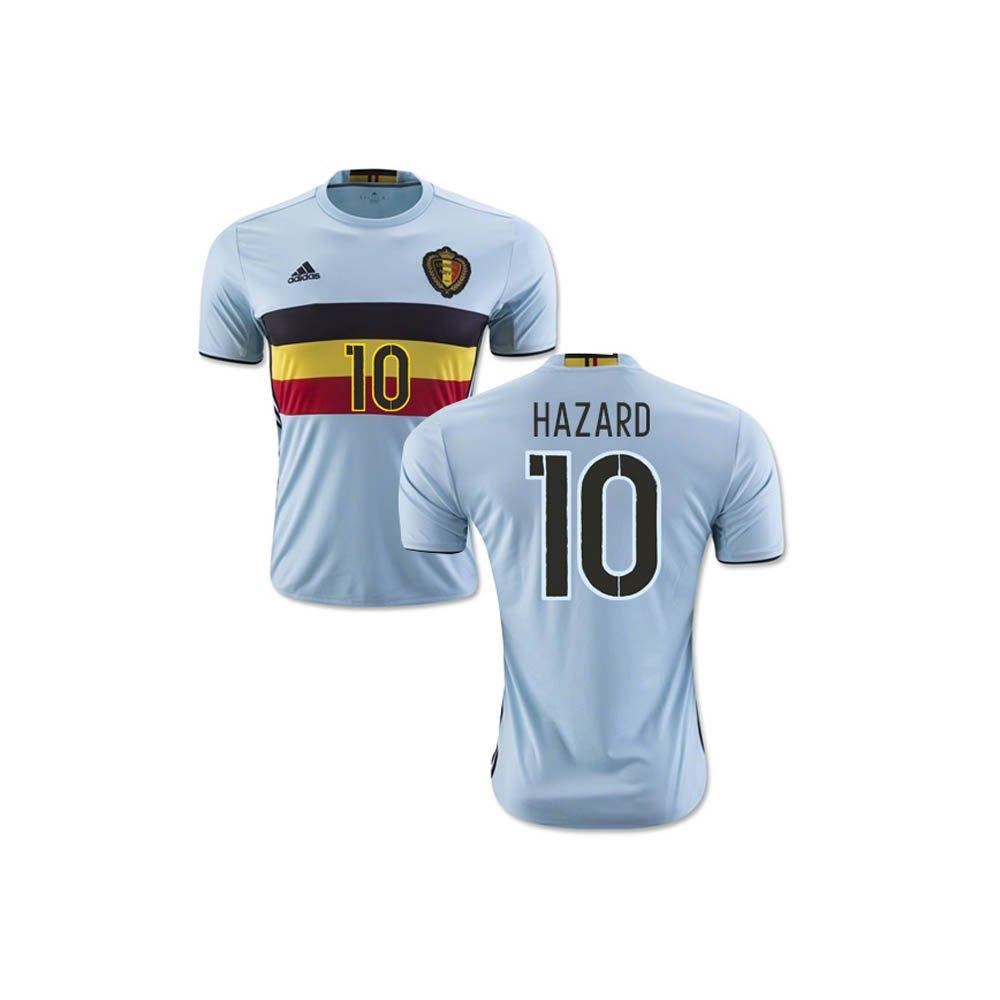 2b0961663 2016-2017 Belgium Away Football Soccer T-Shirt (Eden Hazard 10) - Kids   Amazon.co.uk  Sports   Outdoors