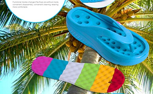 Sandals Womens ANBOVER Flops Platform Blue Thong Beach Slippers Massage Wedges Flip zdd6qwB