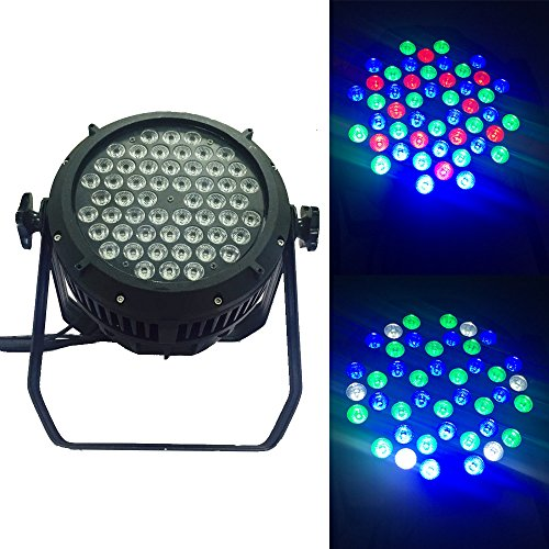 Led Stage Wash Waterproof IP65 Outdoor Par Light 54x3W RGBW DMX512 for TV Studio Theater Auditorium T-stage Concerts Birthdays Party Bar Weddings