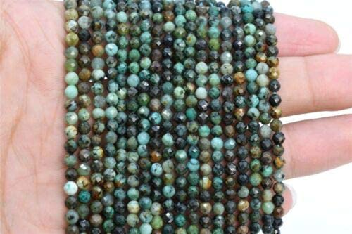 3MM Genuine Natural Multicolor Chrysocolla Bead A Faceted Round Loose Bead 15 nvKE-1865