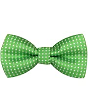 Boys Children Kids Solid Color Satin Banded Bow Ties Polka Dots Ties Various Color