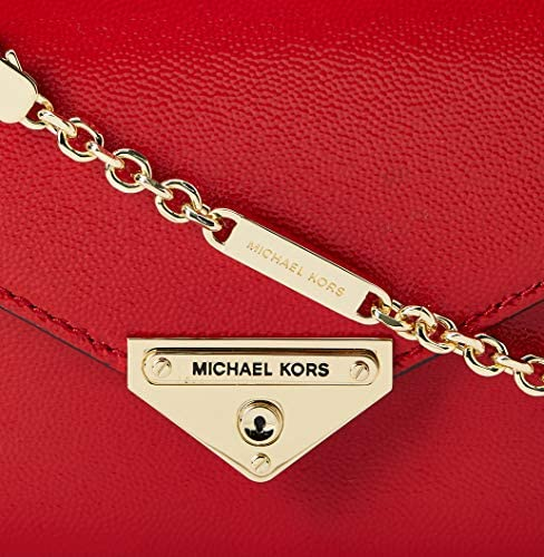MICHAEL Michael Kors Grace Medium Envelope Clutch Bright Red One Size