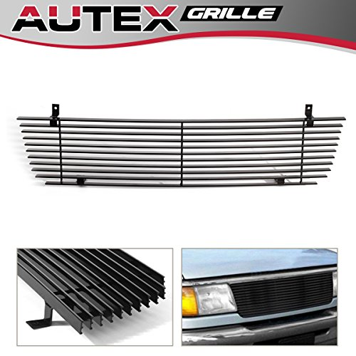 - AUTEX F85013H Black Aluminum Horizontal Billet Main Upper Grille Insert Compatible with Ford Ranger 1993 1994 1995 1996 1997 Grill