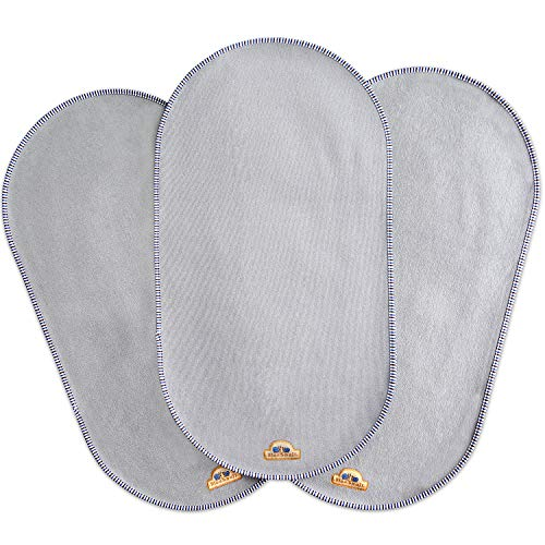 "BlueSnail Waterproof Changing Pad Liners 3 Count (14""X26.5"", Gray) Bassinet Pad Liner"