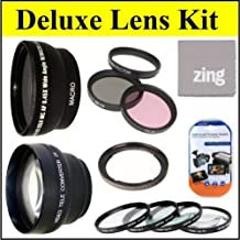 Deluxe Lens Kit for Canon SX30IS SX30 IS SX40 HS SX40HS SX50 HS SX50HS Digital Camera Includes 67mm 3PC Filter Kit + 4PC (+1 +2 +4 +10) Close Up Filter Set + 67mm 2X Telephoto Lens + 67mm 0.45x Wide Angle Lens with Macro Filter Adapter + More!!