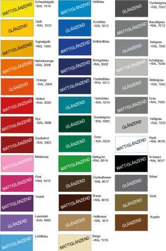 RAL-Farben 10 m Auto Motorrad Zierstreifen 8 mm breit Made in Germany Farbe gl/änzend oder matt nach Wahl von Luminess
