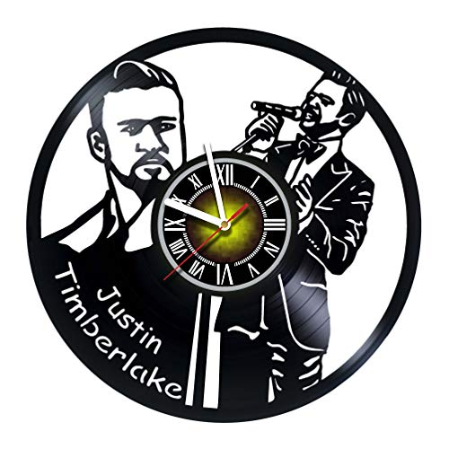 - Toffy Workshop Justin Timberlake - Vinyl Wall Clock - Get Unique Gifts Presents for Birthday, Christmas, Ideas for Boys, Girls, Men, Women, Adults, him and her - Sport Unique Art Design