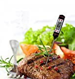 Instant Read Digital Food Cooking Meat Thermometer with Long...