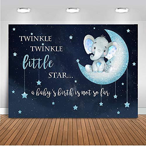 Mehofoto Boy Elephant Backdrop Twinkle Little Star Baby