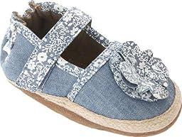 Robeez Jourdan Espadrille Soft Sole Crib Shoe (Infant), Chambray, 6-12 Months M US