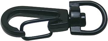 Wuuycoky Silvery 0.3 Inner Diameter D Ring Fisheye Buckle Lobster Clasps Swivel Snap Hooks Pack of 10
