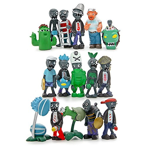 Maggift Plants vs Zombies Series PVC Toys,16 covid 19 (Plants Zombies Pattern coronavirus)