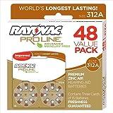 Rayovac Proline Advanced Mercury-Free Hearing Aid Batteries, Box - 48, Size 312