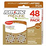 Rayovac Proline Advanced Mercury-Free Hearing Aid Batteries, Box - 48, Size 312
