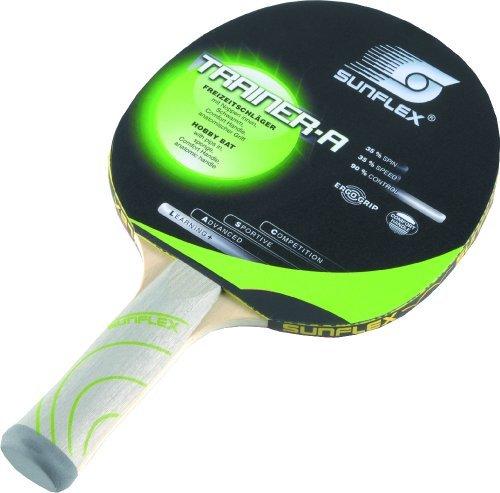 Sunflex Trainer-A Table Tennis Bat - Multi-Colour by Sunflex Sport by Sunflex Sport