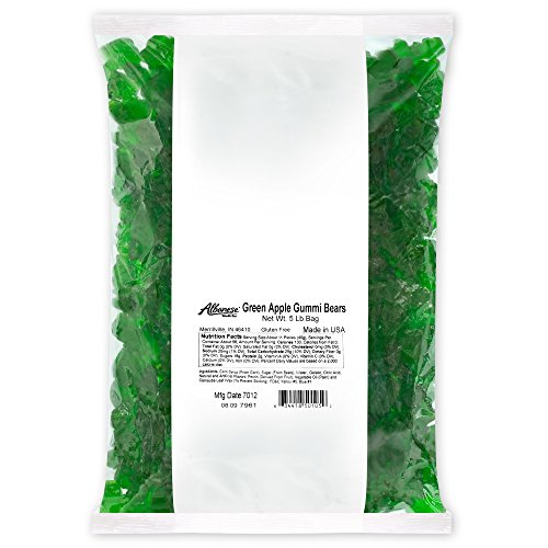 Albanese Candy, Green Apple Gummi Bears, 5-pound Bag