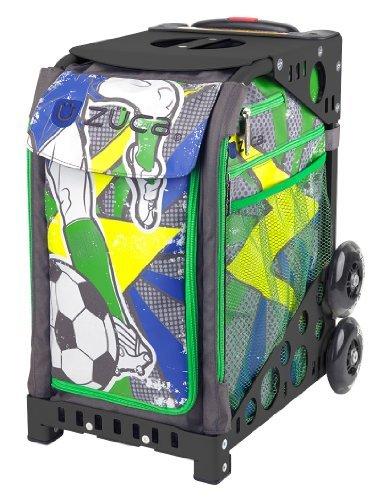 Zuca World Cup inspired Striker roller bag- choose your frame color! (black frame)