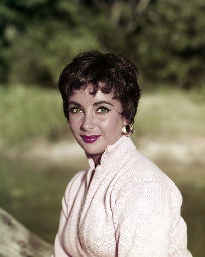 Amazon Com Elizabeth Taylor Short Hair Rare Striking Pose Vintage Color 8x10 Publicity Photo Entertainment Collectibles