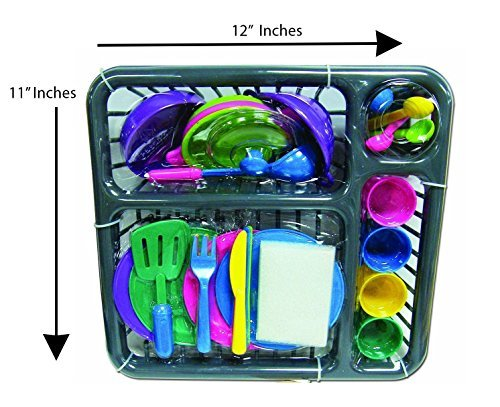 Kitchen Play Dishes Set for Kids, 27 Piece set ()