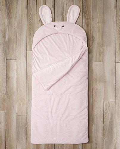 Toddler Sleeping Bag Kids Plush Bunny Rabbit Faux Fur Gift Slumber Bag (Pink) by BearBag (Image #1)