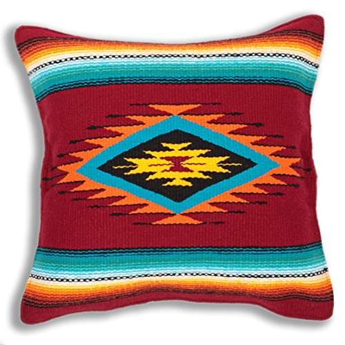 El Paso Designs Serape Throw Pillow Cover, 18 X 18, Hand Woven in Southwest and Native American Styles. 7