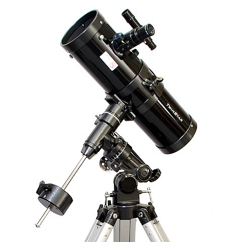 Black TwinStar 4.5'' Reflector Telescope With 3.0MP Telescope Camera