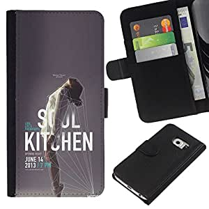 All Phone Most Case / Oferta Especial Cáscara Funda de cuero Monedero Cubierta de proteccion Caso / Wallet Case for Samsung Galaxy S6 EDGE // Music Poster Event Woman