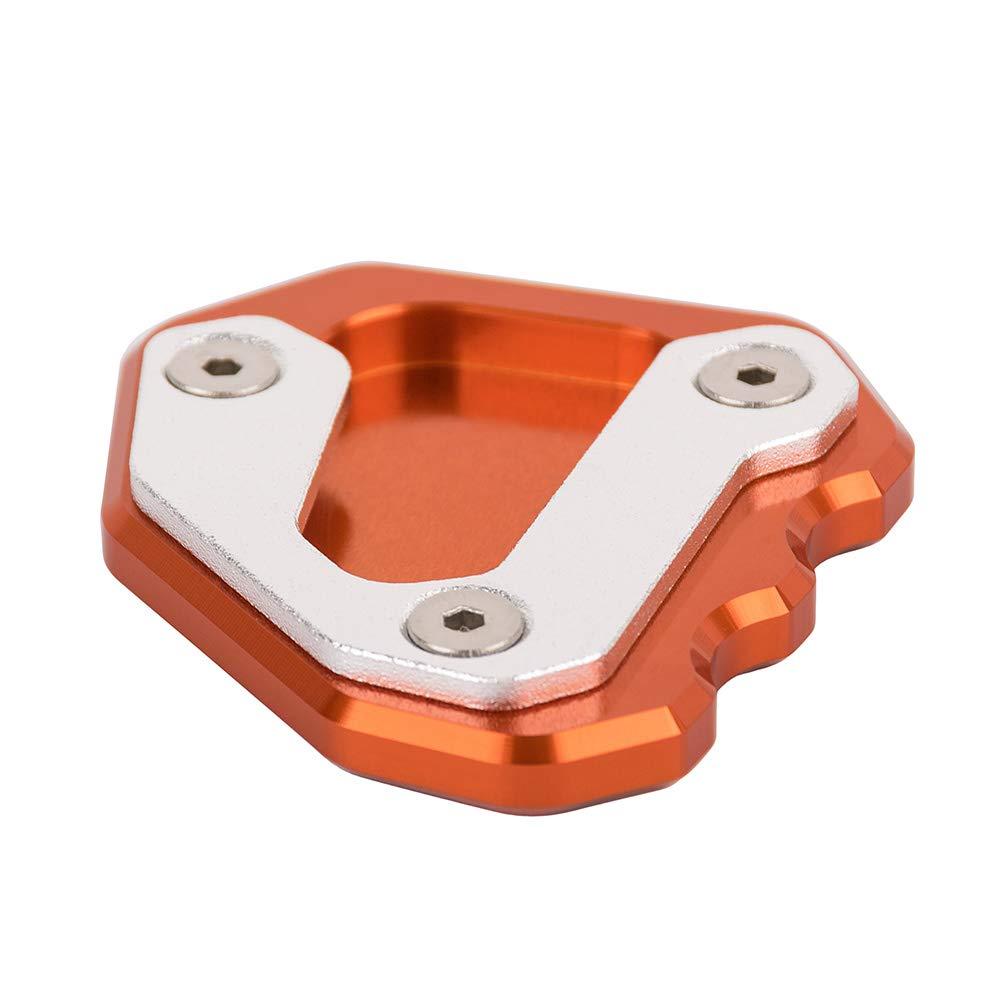 Orange Neues Motorradzubeh/ör Aluminium Seitenst/änder Fu/ß Vergr/ö/ßerer St/änderpolster f/ür 1290 Super Duke 2013-2018