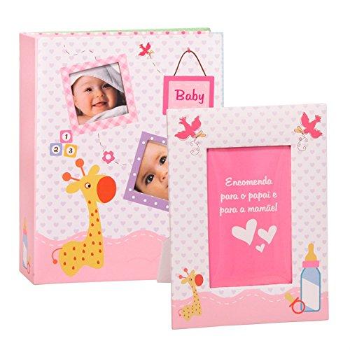 Álbum Bebê com Porta Retrato Personalizável
