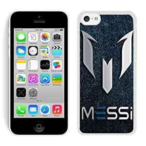 Soccer Player Lionel Messi 63 White Case for iPhone 5C,Prefectly fit and directly access all the features