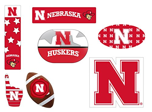 Nebraska Cornhuskers 6 Piece Tailgate Magnet Set and Mascot Magnet