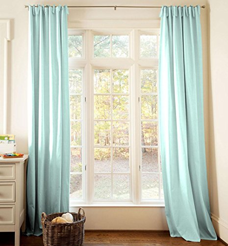 Carousel Designs Solid Seafoam Aqua Drape Panel 96-Inch Length Standard Lining 42-Inch Width by Carousel Designs