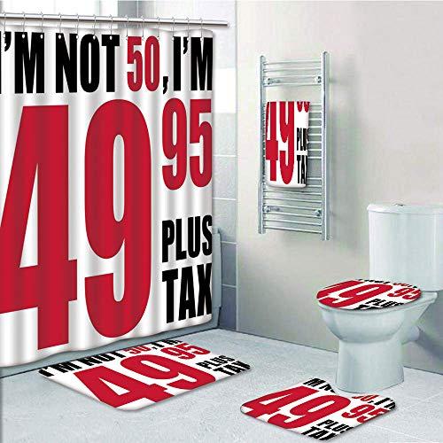 Bathroom 5 Piece Set shower curtain 3d print