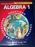 McDougal Littell High School Math North Carolina Student Edition Algebra 1, Larson, 0618293590