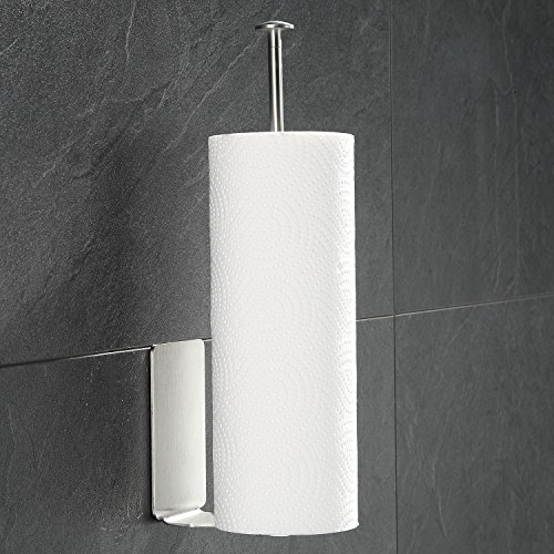 Paper Towel Holders Adhesive Vertical Wall Mount Nail Free ...