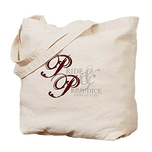 Cafepress – Pride and Prejudice – Borsa di tela naturale, tessuto in iuta