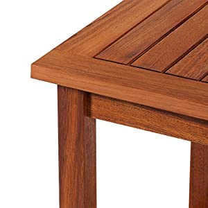 vidaXL Outdoor Acacia Wood End Table Oil Finished Patio Garden Furniture Porch Poolside