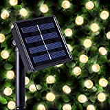 200 Warm White LED Solar Powered Fairy Lights - Waterproof Solar Decoration String Lights with Built-in Night Sensor - for Christmas, Outdoor, Garden, Fence, Patio, Yard, Walkway, Driveway, Shed, Garage, Path, Ornament, Stairs and Outside by SPV Lights: The Solar Lights & Lighting Specialists (Free 2 Year Warranty Included)