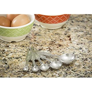 TableCraft H722A 5-Piece Stainless-Steel Measuring-Spoon Set