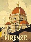 TRAVEL TOURISM FLORENCE ITALY BASILICA SANTA MARIA FIORE NEW FINE ART PRINT POSTER PICTURE 30x40 CMS CC4403