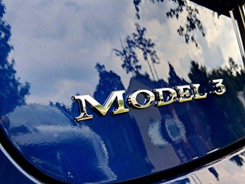 Tesla Model 3 Badge – Chrome
