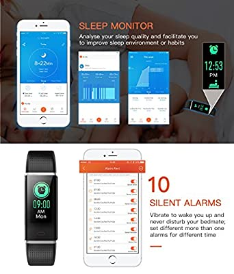 Mpow Fitness Tracker HR, Color Screen Activity Tracker Watch with Heart Rate Monitor, IP68 Waterproof Pedometer Watch Step Counter¬Calorie Counter Sleep Monitor for Men Women Kids, Android & iOS