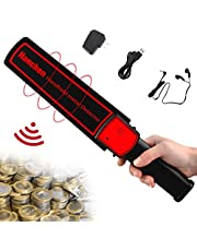 Hanchen Hand-held Metal Detector for Nails in Wood, Mobile Phone, Factory and Station Security Apparatus Without Battery