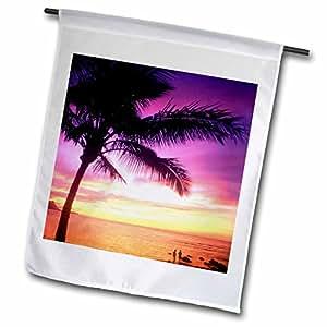 Danita Delimont - Hawaii - Sunset, Hanalei, Kauai, Hawaii, USA - US12 DPB1218 - Douglas Peebles - 12 x 18 inch Garden Flag (fl_89693_1)