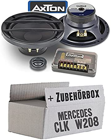 Mercedes Clk W208 Front Speaker Boxes Axton Atc26 16 Cm 2 Way Component System In Car Mounting Accessories Mounting Kit Navigation Car Hifi