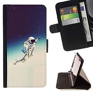 Momo Phone Case / Flip Funda de Cuero Case Cover - Espacio Astronauta Hipster;;;;;;;; - Apple Iphone 6 PLUS 5.5